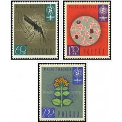 3 عدد تمبر مبارزه علیه مالاریا -  لهستان 1962