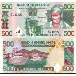 اسکناس 500 لئون - سیرالئون 1998