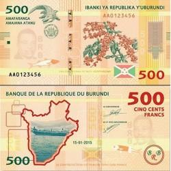 اسکناس 500 فرانک - بروندی 2015