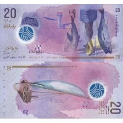 اسکناس پلیمر 20 روفیا - مالدیو 2015