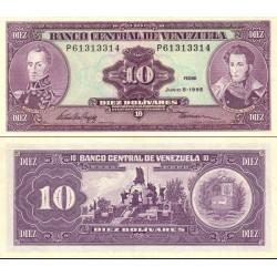 اسکناس 10 بولیوار - ونزوئلا 1995