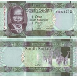 اسکناس 1 پوند - سودان جنوبی 2011