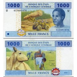 اسکناس 1000 فرانک - آفریقای مرکزی 2002