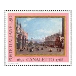 1 عدد تمبر تابلو نقاشی - 200مین سالگرد مرگ کانالتو - نقاش - ایتالیا 1968