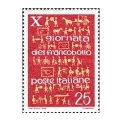 1 عدد تمبر روز تمبر - ایتالیا 1968