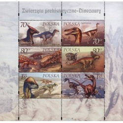 مینی شیت جانداران ماقبل تاریخ - دایناسورها  - لهستان 2000