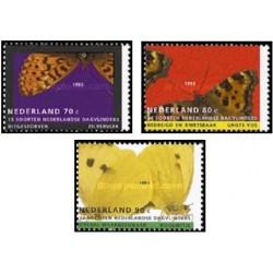 3 عدد تمبر پروانه ها - هلند 1993