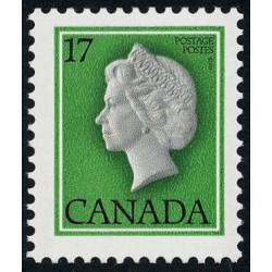 1 عدد تمبر سری پستی ملکه الیزلبت دوم - کانادا 1979