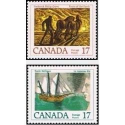 2 عدد تمبر نویسندگان کانادائی - تصویرگران جلد - کانادا 1979