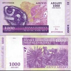 اسکناس 1000 آریاری - ماداگاسکار 2004