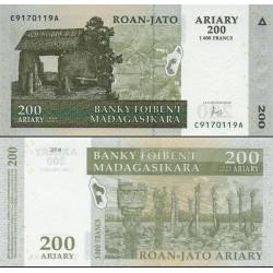 اسکناس 200 آریاری - ماداگاسکار 2004