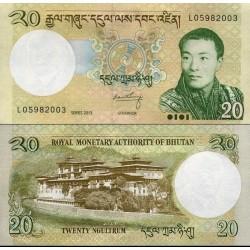 اسکناس 20 نگولتروم - بوتان 2013