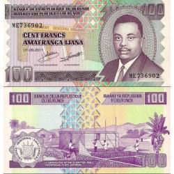 اسکناس 100 فرانک - بروندی 2011