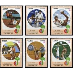 6 عدد تمبر 14مین دوره مسابقات ورزشی کشورهای آمریکای مرکزی و کارائیب - هاوانا - کوبا 1982