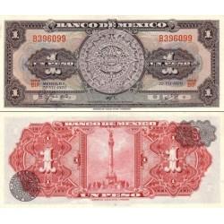 اسکناس 1 پزو - مکزیک 1970 سری BIP