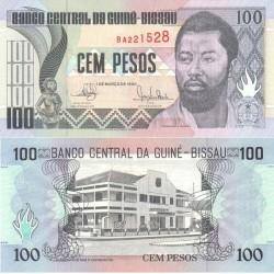 اسکناس 100 پزو - گینه بیسائو 1990