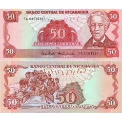 اسکناس 50 کوردوبا - نیکاراگوئه 1985