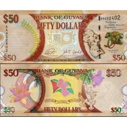 اسکناس 50 دلار - یادبود پنجاهمین سال استقلال - گویانا 2016