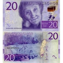 اسکناس 20 کرون - سوئد 2015