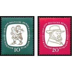 2 عدد تمبر یادبود هاینریش زیله - تصویر گر و عکاس  - جمهوری دموکراتیک آلمان 1958