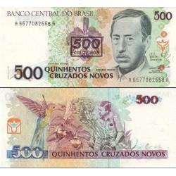 اسکناس سورشارژ 500 کروزرو - برزیل 1990