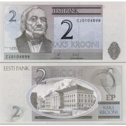 اسکناس 2 کرونی - استونی 2007