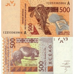 اسکناس 500 فرانک - ساحل عاج 2012