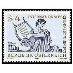 1 عدد تمبر جشنواره گروه کر بین المللی در وین - اتریش 1971