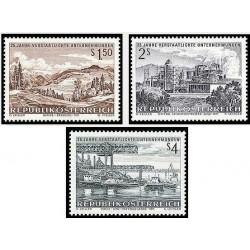 3 عدد تمبر 25مین سالکرد شرکت ملی - اتریش 1971