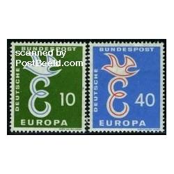 2 عدد تمبر مشترک اروپا - Europa Cept - جمهوری فدرال آلمان 1958