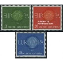 3 عدد تمبر مشترک اروپا - Europa Cept - جمهوری فدرال آلمان 1960