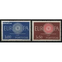 2 عدد تمبر مشترک اروپا - Europa Cept - پرتغال 1960