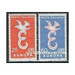 2 عدد تمبر مشترک اروپا - Europa Cept - ایتالیا 1958