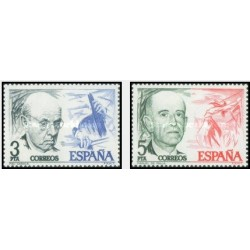 2 عدد تمبر موسیقیدانان  - اسپانیا 1976