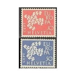 2 عدد تمبر مشترک اروپا - Europa Cept - سوئیس 1961