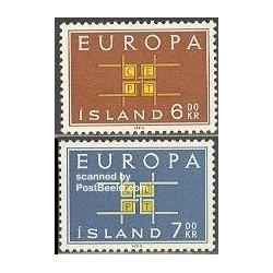 2 عدد تمبر مشترک اروپا - Europa Cept - ایسلند 1963