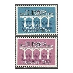 2 عدد تمبر مشترک اروپا - Europa Cept - ایسلند 1984