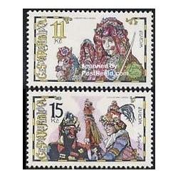 2 عدد تمبر مشترک اروپا - Europa Cept  - جشنها - جمهوری چک 1960