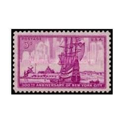 1عدد تمبر 300مین سالگرد شهر نیویورک - آمریکا 1953
