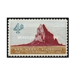 1 عدد تمبر پنجاهمین سالگرد تاسیس ایالت نیومکزیکو - آمریکا 1962