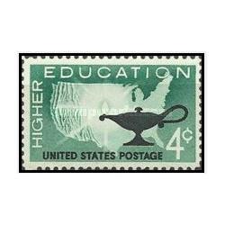 1 عدد تمبر آموزش عالی - آمریکا 1962