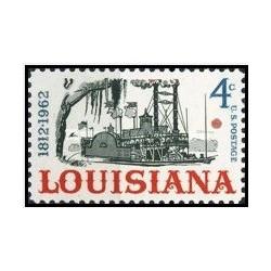 1 عدد تمبر 150مین سالگرد تاسیس ایالت لوئیزیانا - آمریکا 1962