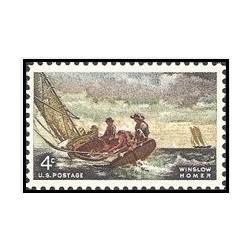 1عدد تمبر وینسلو هومر -نقاش - آمریکا 1962