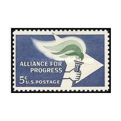 1 عدد تمبر اتحاد برای پیشرفت - آمریکا 1963