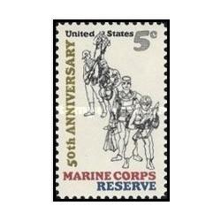 1 عدد تمبر تفنگداران دریایی رزرو  - آمریکا 1966