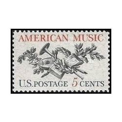 1 عدد تمبر موسیقی آمریکا - آمریکا 1964
