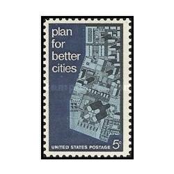 1 عدد تمبر برنامه ریزی شهری - آمریکا 1967