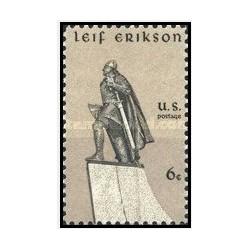 1 عدد تمبر لایف اریکسون - جهانگرد - آمریکا 1968