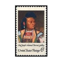 1 عدد تمبر سرخپوستان آمریکایی - آمریکا 1968
