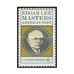 1 عدد تمبر ادگار لی مسترز -شاعر - آمریکا 1970